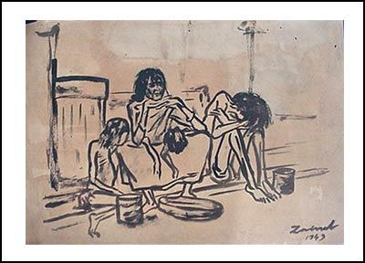 """Зайнул Абедин. Серия """"Великий голод"""". 1940-е г."""